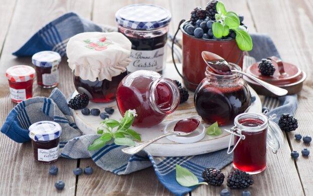 ежевика варенье, сладости, ягоды, джем, конфитюр