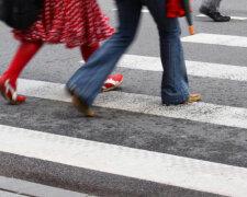 дорога, пешеходы