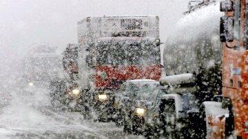 Погода в Украине Снег пробка
