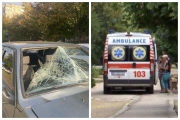 """Підлітка зніс автомобіль на """"зебрі"""", тілом вибив лобове скло: кадри аварії в Одесі"""