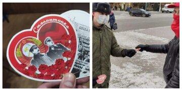 """У """"ЛНР"""" закоханим замість валентинок на 14 лютого роздали """"сталінтинки"""": божевільні кадри"""