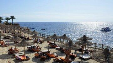пляж, Египет, лето, курорт
