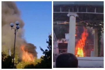 Взрыв и пожар на одесском пляже, в городе переполох: кадры ЧП