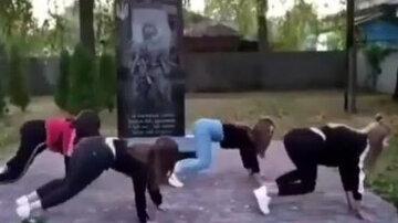 """""""Сумно стає за таку молодь"""": школярки осквернили пам'ять воїнів АТО, скандальне відео"""