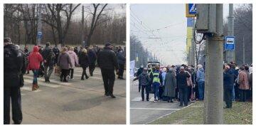 Терпець харків'ян урвався: люди перекривають дороги в місті, кадри з місця подій