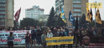 18 вересня у Черкасах пройшла акція протесту у підтримку репресованих патріотів