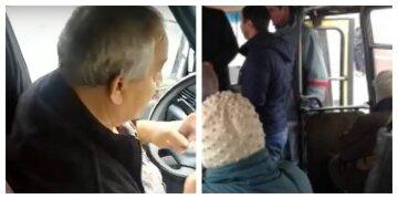 """Маршрутник відмовив українці з інвалідністю в проїзді, відео: """"Виходьте вам сказано"""""""