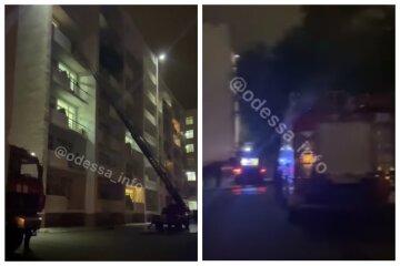 В Одессе загорелось общежитие: подробности и кадры спасения студентов