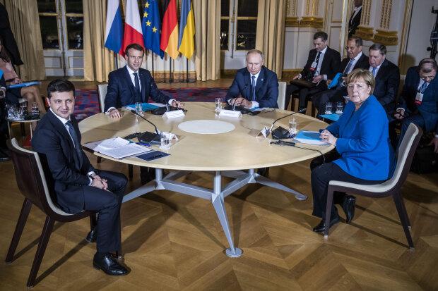 Зеленський, Путін, Макрон, Меркель у Парижі
