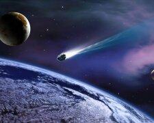 космос галактика вселенная астероид комета