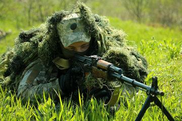 война, учения, военнослужащий, снайпер, винтовка