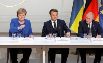 путин, меркель, макрон, нормандская встреча