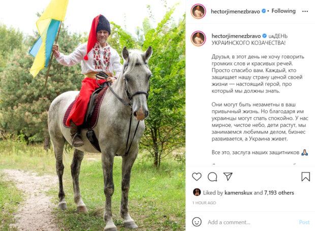 """Хименес-Браво верхом на коне предстал перед украинцами в национальном костюме: """"Настоящий козак"""""""