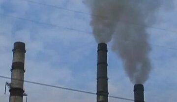 выбросы, завод, промышленность, углекислый газ, скрин