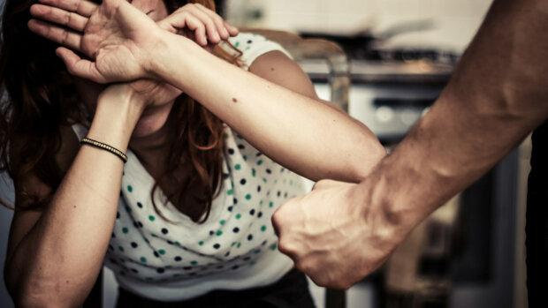 женщина, избиение, кулак, насилие