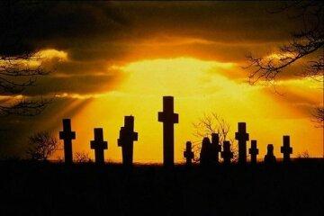 кладбище могила