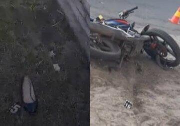 Две юные сестры разбились на мотоцикле, младшую спасают врачи: детали и кадры трагедии на Волыни