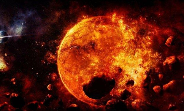 солнце, конец света, космос, галактика