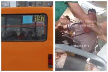 В одесской маршрутке устроили самосуд над неадекватным пассажиром: видео от очевидцев