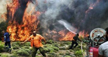 пожар греция