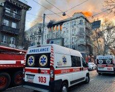 Пожежа в коледжі в Одесі