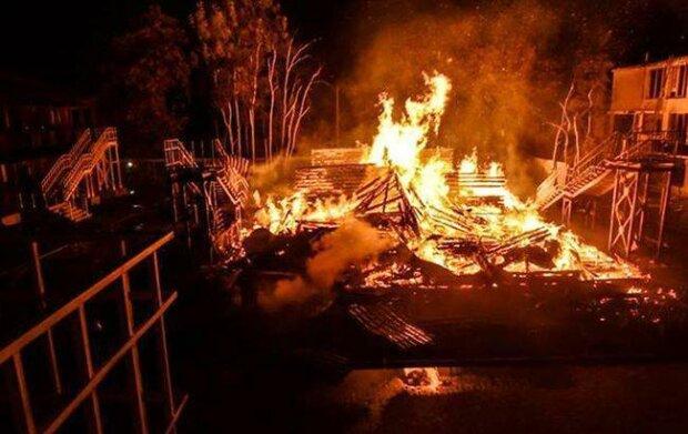 пожар Виктория,
