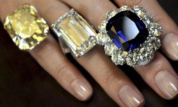 кольца гламур роскошь