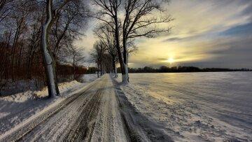 солнце тучи зима