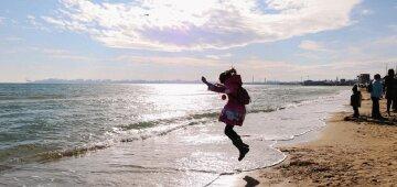 море, весна, зима