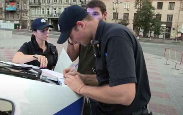 штраф, поліція, патрульні