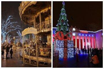 """Одеситам показали, як місто перетворилося до Різдва і Нового року: """"карусель біля Дюка і не тільки"""""""