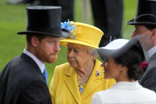 меган маркл, принц гарри, елизавета, королева