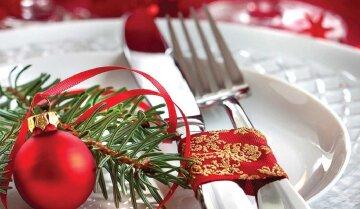 новий рік, стіл, страви