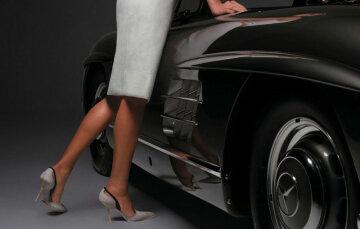 женщина мажорка авто девушка водитель ноги