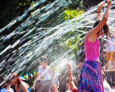 погода, лето, жара, фонтан