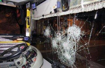 Пьяные парни разнесли троллейбус и избили прохожих: кадры с места ЧП в Киеве