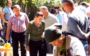 пенсионеры, лето, Украина