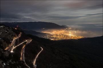 крым ночь дороги дорога