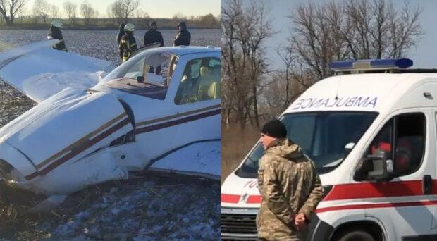 Самолет потерпел крушение под Киевом, есть выжившие: подробности и кадры с места ЧП
