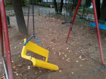 детская площадка, качеля