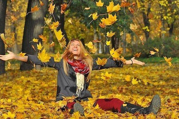 осень, люди, счастье, женщина