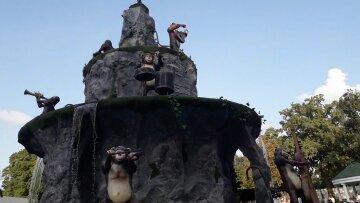 фонтан, обезьяны, Харьков