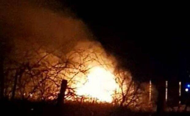 Пожежа охопила могили полеглих українських героїв на Донбасі, кадри: підозрюють умисний підпал