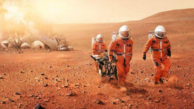 марс космос космонавт