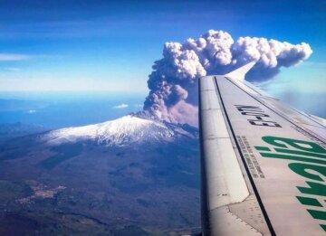 Италия, Этна, вулкан, извержение