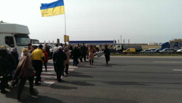 акция протеста на Окружной дороге