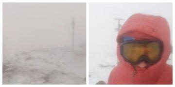 Сніг і сильний вітер атакує українців: рятувальники показали відео безумства погоди