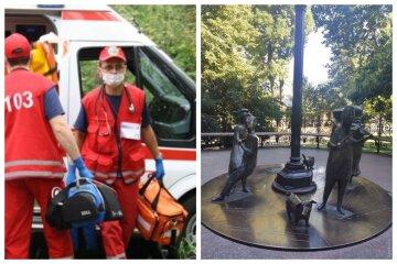 Ребенок получил  ожоги возле знаменитой скульптуры в Горсаду, приехала скорая: кадры ЧП в Одессе