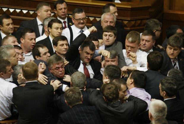 политика, парламент, драка