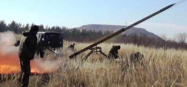 Град-удари в АТО: бойовики б'ють із важкого озброєння – відео